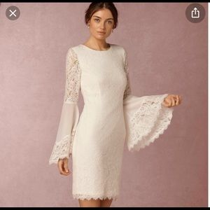 BHLDN Bell Sleeve Lace Dress by Hitherto